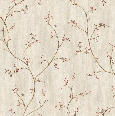 Brewster Wallcovering Felicia Grey Star Berry Vine Wallpaper Grey Search Results