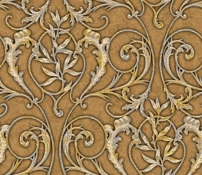 Brewster Wallcovering Yellow Celine Yellow Ethnic and Global