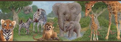 Brewster Wallcovering Afrique Green Jungle Bedtime Portrait Border Green Search Results