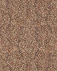 Ralph Lauren Assyria Paisley Terracotta Fabric