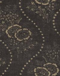 Ralph Lauren Etienne Floral Strip Vintage Black Fabric