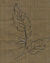 Wesco Metallic Leaf Brown Fabric