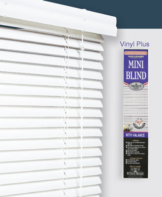 Lotus & Windoware 1 Inch Vinyl Plus Mini Blind 34x36  Vinyl Blinds Plus