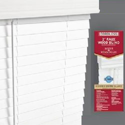Cordless 2 inch faux blinds, Cordless faux wood blinds white