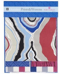 Tobi Fairley Prints And Wovens Suburban Blue Pink Bright Duralee Fabrics