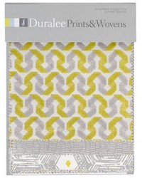 Alhambra Prints And Wovens Citron Pewter Fabric