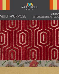 Multi-purpose Red Orange And Yellow Mitchell Fabric