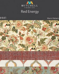 Red Energy Mitchell Fabric