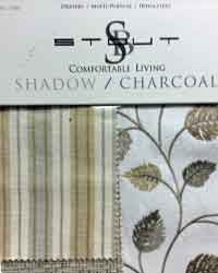 Comfortable Living Shadow Charcoal Stout Fabric