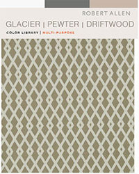Color Library Glacier Pewter Driftwood Robert Allen Fabric