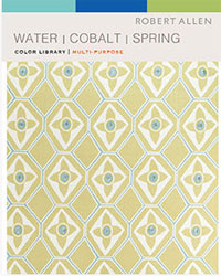 Color Library Water Cobalt Spring Grass Fabric