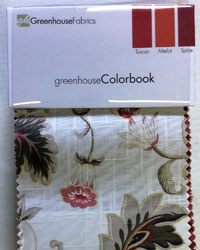Colorbook Tuscan Merlot Spice Greenhouse Fabrics