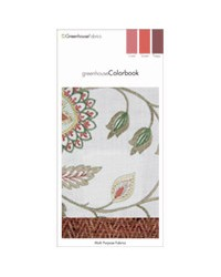 Greenhouse Colorbook Sunset Coral Poppy D82 Greenhouse Fabrics