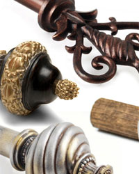 Novel Curtain Rods and Hardware