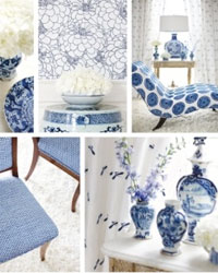 Blue Room Connoisseur Stroheim Fabrics