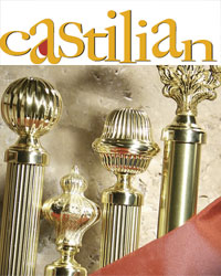 Castilian Brass Curtain Rods