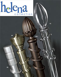 Helena 2 inch Metal Curtain Rods