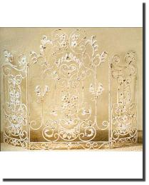 Three Panel Fire Screen by