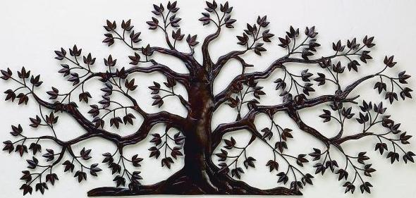 Rusted Brown Tree Wall Art