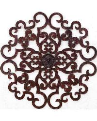 Oversized Brown Taupe Scroll Wall Grille by