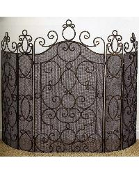 Five Panel Fire Screen by