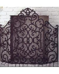 Three Panel Scroll Fire Screen by