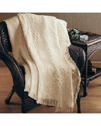 Basketweave Heart 2-Layered Throw by