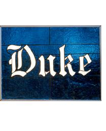 Duke Blue Devils Window by