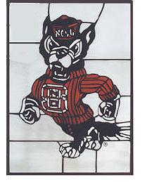North Carolina State Wolfpack Window by