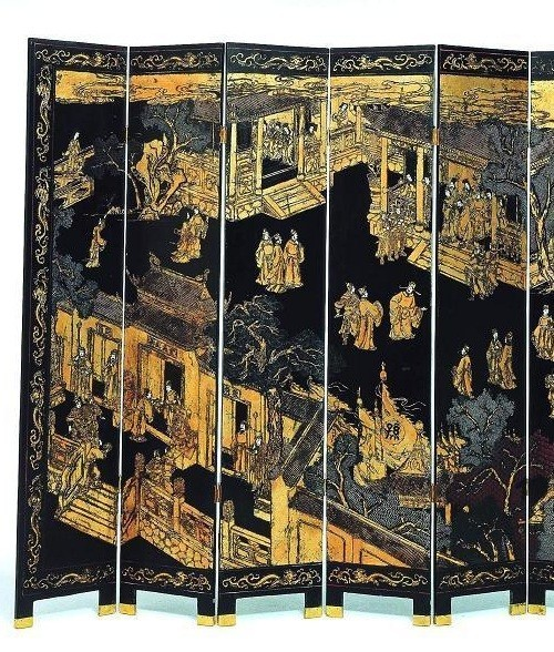 black and gold oriental screen interiordecorating Modern Room Dividers Mirror Room Divider Screen
