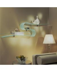 Boa Glass Wall Shelf - Opaque by