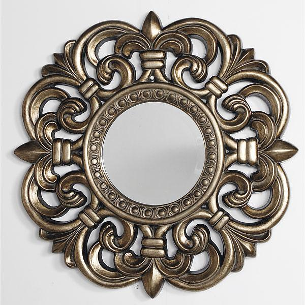 Fleur de lis silver accent mirror interiordecorating for Silver accent wallpaper