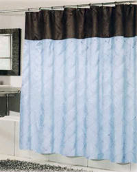 Balmoral Shower Curtain Blue Brown by