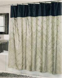 Balmoral Shower Curtain Brown Black by