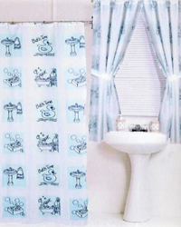 Bath Time Shower Curtain by