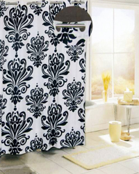 Beacon Hill Shower Curtain Black by