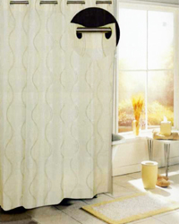 Bristol Shower Curtain Ivory by
