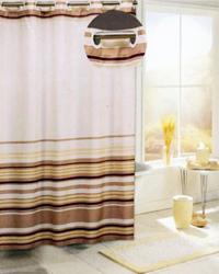 Brown Stripes Shower Curtain by