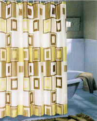 Contempo Extra Wide Shower Curtain Brown by