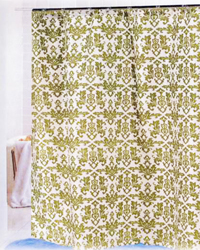 Damask Shower Curtain Sage Ivory by