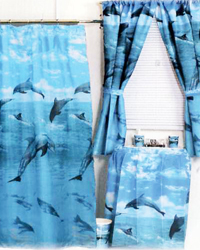 Dolphins Shower Curtain by