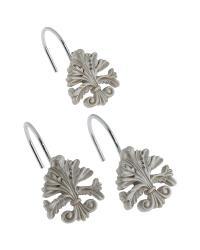 Fleur dis Lis Shower Curtain Hooks Silver by
