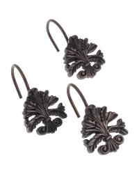 Fleur dis Lis Shower Curtain Hooks Oil Rubbed Bronze by
