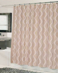 Geneva Shower Curtain Ivory Taupe by