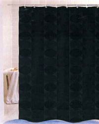 Jacquard Circles Shower Curtain Black by