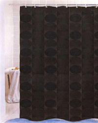 Jacquard Circles Shower Curtain Brown by