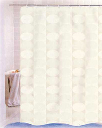 Jacquard Circles Shower Curtain Ivory by