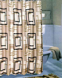Lexington Extra Wide Shower Curtain Multi Brown by