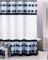 Metro Shower Curtain Black by