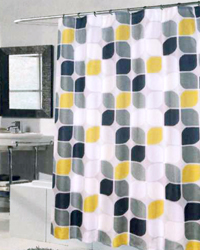 Metro Extra Long Shower Curtain Multi by